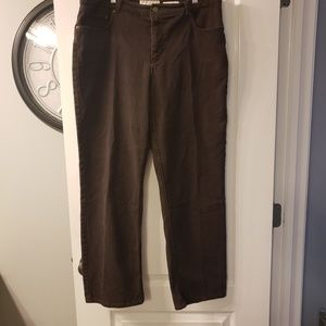 Jones New York sport brown pants size 14